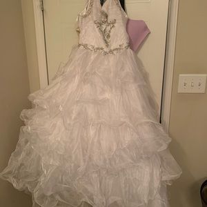 Dresses & Skirts - white pageant dress, size 6
